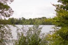 der Blick über den See von der Ostseite aus