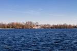 Ein Blick nach Süden über den See