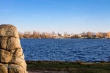 Ein Blick nach Norden über den See